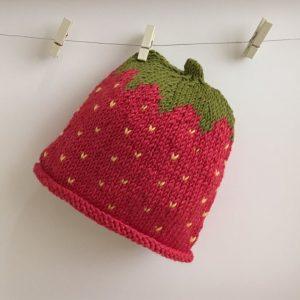 Handmade Strawberry Newborn Baby Hat