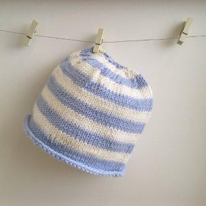 Handmade Newborn Baby Striped Hat