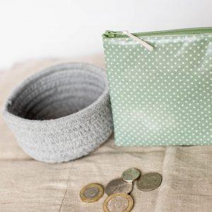 Handmade Oilcloth Zip Purse