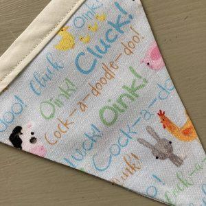 Handmade Children's Bunting: Animal Sounds